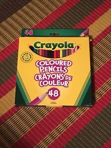 Brand new pack of 48 Crayola coloured pencils