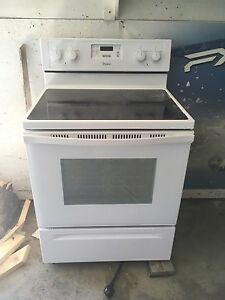 Whirlpool glass top stove/oven