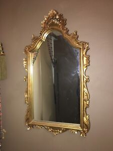 Beautiful Solid Gold Ornate Antique Mirror