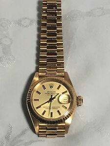 Rolex Datejust President 18k Gold Ladies Watch 69178