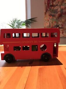 Sold Pending Up Wooden Toy London Bus With Peg Dolls Make An