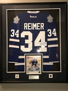 Reimer Toronto Maple Leafs signed framed jersey with COA