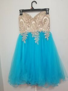 Topaz Blue Graduation Dress-Size 2/4