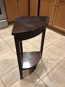 Dark Wood corner table