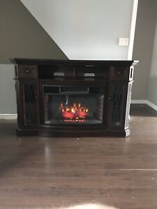 Electric fireplace 100% real wood