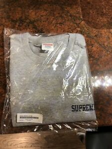 "Brand New Supreme Araki ""Orchid"" Long Sleeve Heather Grey"