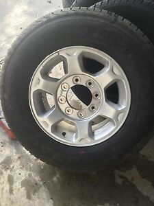 F-350 rims and tires. New. 17inch