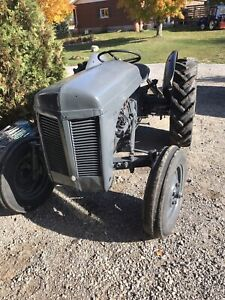 Ferguson tractor with back blade