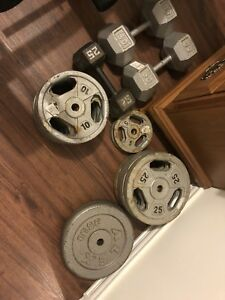 Assorted weight plates