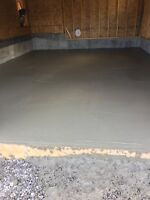 Concrete contractor. Floors pads walkways and patios