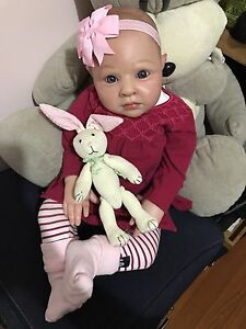 "SOLD reborn  Toddler Baby Doll Rowie life like baby doll 24"" Docklands Melbourne City Preview"