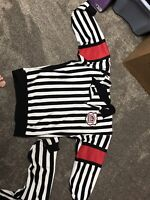 Referee jersey with sewn on arm bands