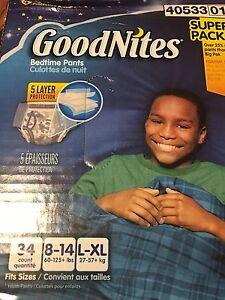 Boys L/XL Goodnites pull-ups