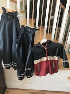 Splash Suit Rain Jacket and pants Size 3-4T