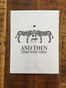 "Brand New Zebra Nursery Print - ""And Then They Were Three"" - $15"