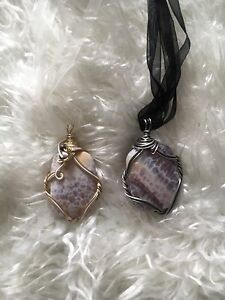 Beautiful wire wrapped necklaces