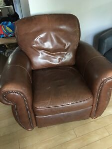 Natuzzi leather lazyboy