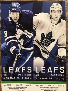 Toronto Maple Leaf Tickets (Sold Pending Pick Up)