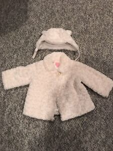 Toddler winter jacket and hat, 12-18months