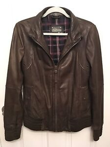 Aritzia (Mackage) Brown Leather Jacket