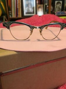 1950's Blue Aluminium Cat Eye Glasses