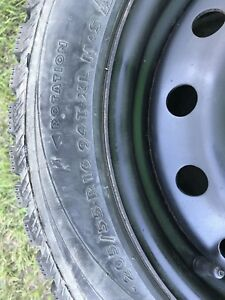 4 Winter tires 205/55-R16 94T-XL M+S and rims