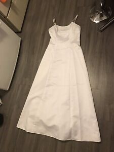 Size 14 woman's white prom dress