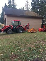 Tractor for work.  Backhoe, trailer, scraper blower etc