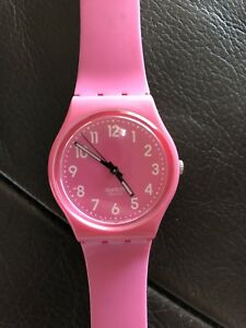 Pink Swatch Swiss Authentic watch