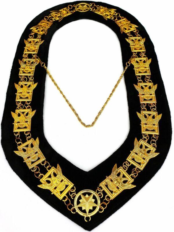 32nd Degree Wings Up Masonic Chain Collar Scottish Rite Consistory Jewel Regalia