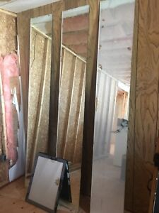 Mirror Panels  (floor to ceiling height)