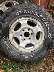 Goodyear wrangler tires with Rims
