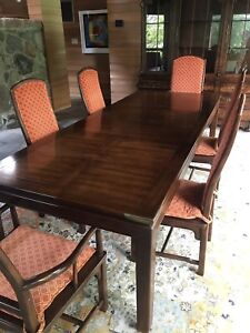 Beautiful Antique table, 10 Chairs & Hutch