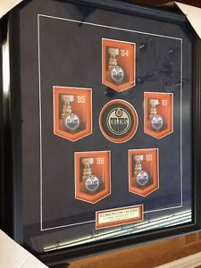 Edmonton Oilers Stanley Cup Framed Collectible