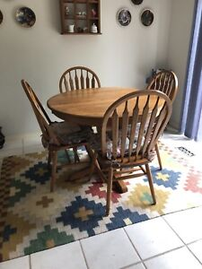 Oak kitchen table set