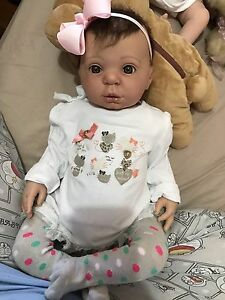 Reborn baby girl toddler doll Lifelike Baby Docklands Melbourne City Preview