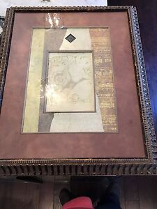REDUCED! Beautiful Ren-Wil Wall Art - solid wood frame!!