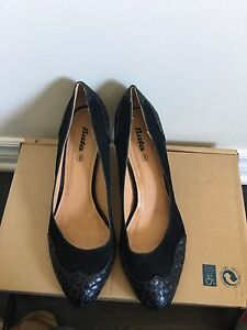 Black high heels for work. Size 8
