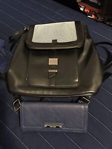 9 West backpack purse and 9 west wallet