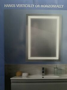 New in box: Bathroom mirror with built-in LED lighting - MINT!