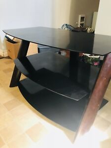 Glass Wooden tv stand!