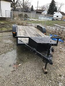Flatbed car trailer, atv, or others, 16 ft deck, electric brakes