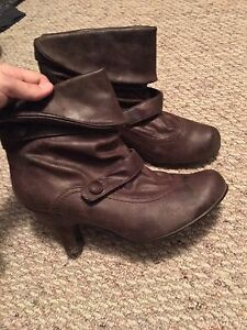 Spring leather booties sz 7/8