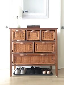 Wicker chest - 6 drawers