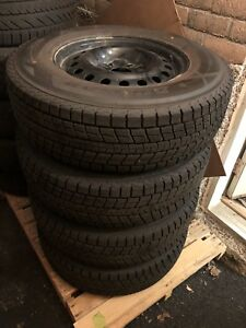 Set of 4 16inch winter tires on rims 225/75/16
