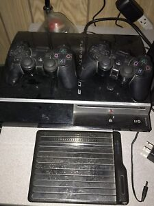 PS3 and 2 controls and 22 games