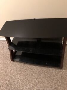 3 TIER GLASS TV STAND !