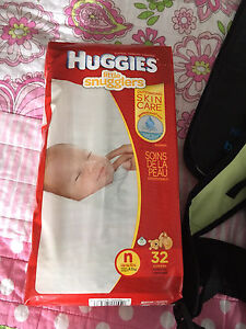 Newborn diapers and free bag