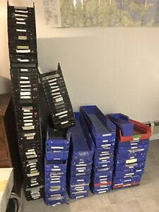 Shelf Storage bins of various sizes