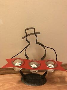 PartyLite snowman candle holder